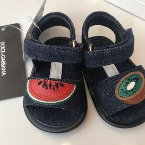 DOLCE & GABBANA JEAN SANDALS NEW